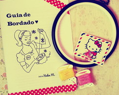 Kit Aprenda Bordado Tema Hello Kitty