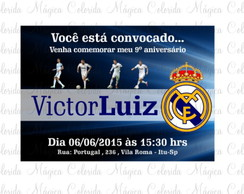 Arte Digital - Convite Real Madrid