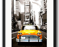 Quadro Taxi New York com Paspatur