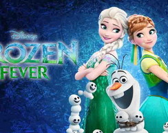 Painel Frozen Fever 02 | 2,00 x 1,00