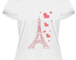 Camiseta/Baby Look Eu amo Paris