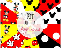 Kit Digital Papéis Mickey!