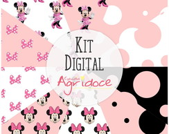 Kit Digital Papéis Minnie!