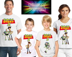 Kit 4 Camisetas Toy Story A1