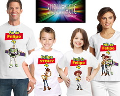 Kit 4 Camisetas Toy Story A2