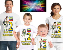 Kit 4 Camisetas Toy Story A3