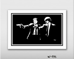 Quadro Pop Filme Pulp Fiction 60x40cm N7 Decoracao Sala