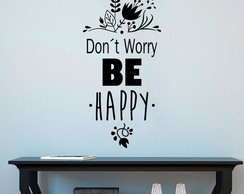 Adesivo Parede - Don´t Worry, Be Happy
