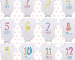 Kit Bodies Mesversário Sweet Numbers