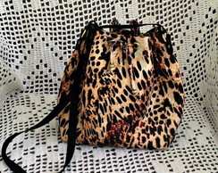 Bolsa bucket animal print