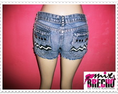 Shorts Jeans Customizado Ètnico