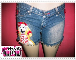Shorts Jeans Customizado Pet
