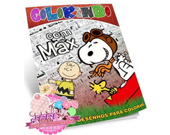 Kit Colorir Snoopy + Giz de Cera