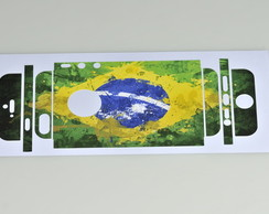 Skin iphone 5 e 5s Brasil Flag
