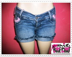 Shorts Jeans Customizado Miçangas