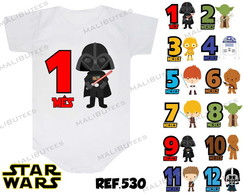 body mesversario star wars kit para bebe