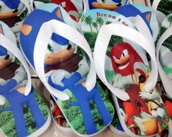 Chinelo Infantil Temático Sonic