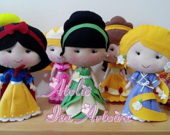 Kit 6 Princesas da Disney 40 cm cada