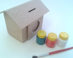 Kit pintura casinha cofre