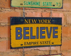 Conj. 3 Placas Dream Believe Imagine
