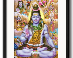 Quadro Shiva India com Paspatur