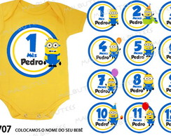 body mesversario minions kit bebe