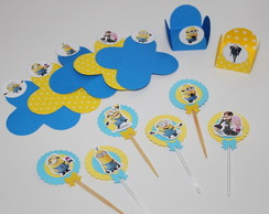 Kit Forminhas p/doces + Toppers Minions
