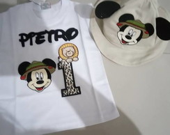 safari mickey (camiseta+chapeu)