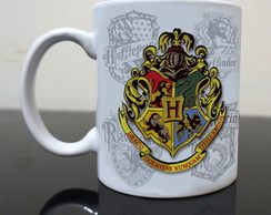 Caneca branca Harry Potter Hogwarts