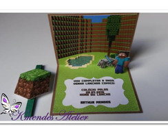 Convite Minecraft Pop up