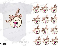 body mesversario minnie com laço kit