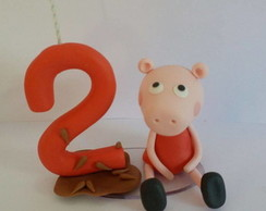 vela decorada peppa pig
