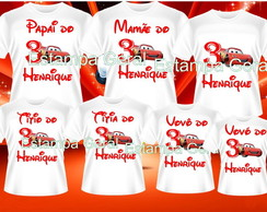 Kit 20 Camisetas Aniversario Carros