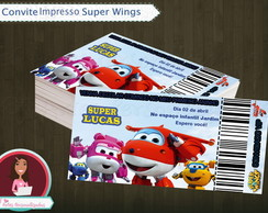 Convite Ingresso Super Wings