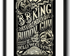 Quadro BB King Buddy Guy com Paspatur