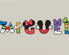 Mickey Letras Planas Decoradas