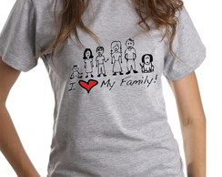Camiseta I Love my Family