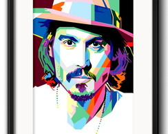 Quadro Johnny Depp Pop Art com Paspatur