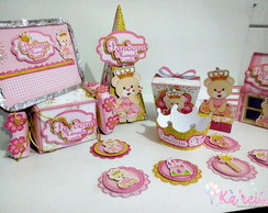 Kit scrap festa - Ursinha Princesa