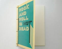 "Caderno ""Rock and Roll"" (Scrapbook)"
