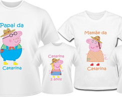 Kit Camiseta Peppa Pig Caipirinha