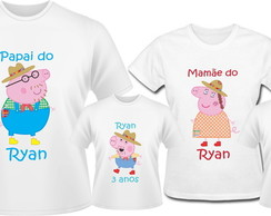 Kit Camiseta George Pig Caipirinha