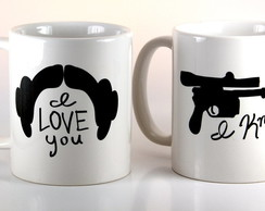 Kit Caneca I Love You I Know - Star Wars