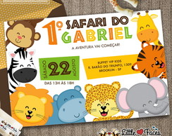 Convite Festa Safari Selva Digital