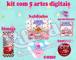 Kit digital com 5 artes digitais