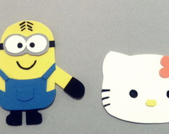 Aplique de EVA Minions e Hello Kitty