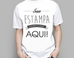 Camiseta Customizada - Frente e Costas