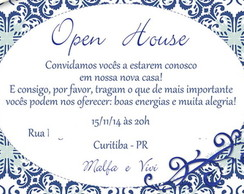 Convite digital - Open House