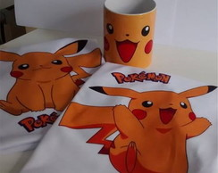 Kit Camisetas + Caneca - Pokemon Pikachu