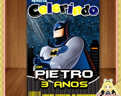 Arte Digital Capa Revista Colorir Batman